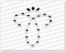 Crystal tattoos strass tattoo rhinestone tatts kristal for Rhinestone body tattoos