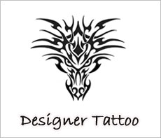 Designer Tattoo, Customized Transfer Tatttoos, Personalized Temporary Body Tatooos