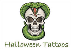 Halloween Temporary Tattoos, Custom designed Temporary Tattoos