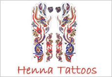 Temporary Henna Tattoos, Custom Temporary Tattoos